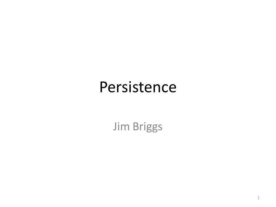 Persistence Jim Briggs 1