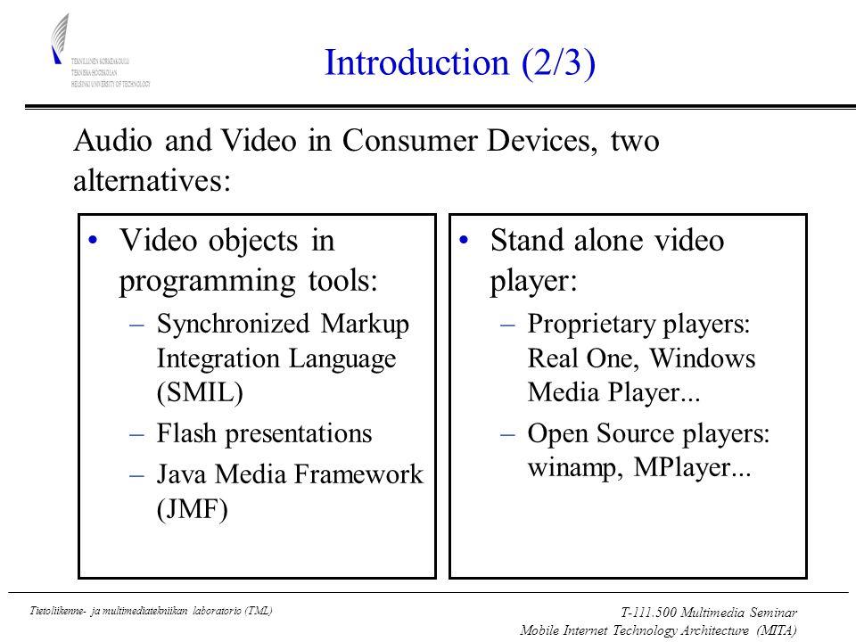 T-111.500 Multimedia Seminar Mobile Internet Technology Architecture (MITA) Tietoliikenne- ja multimediatekniikan laboratorio (TML) References (2/2) PC –R.