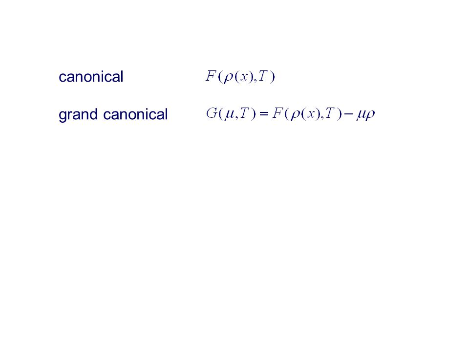 canonical grand canonical