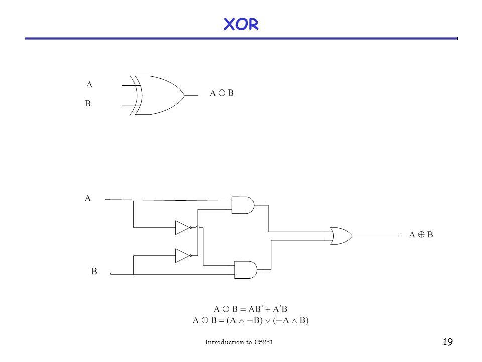 Introduction to CS231 19 XOR