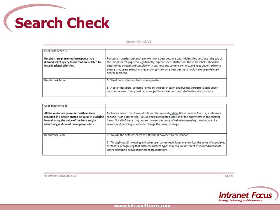 Search Check www.intranetfocus.com