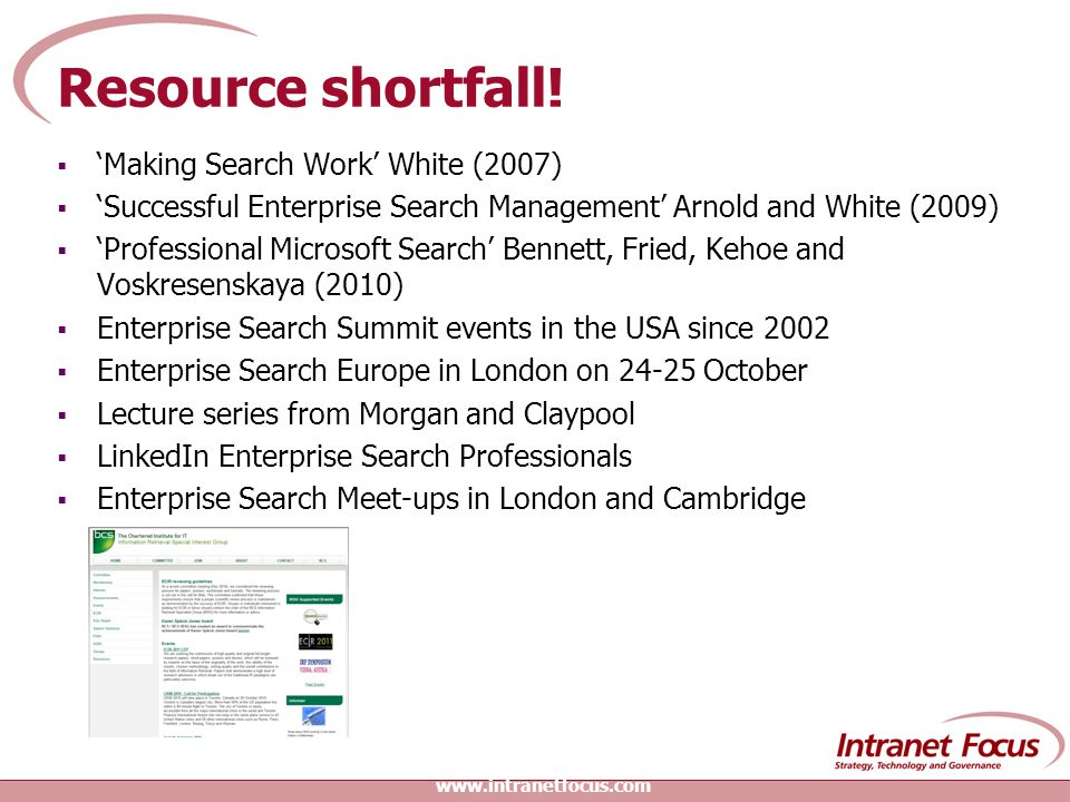 Resource shortfall.
