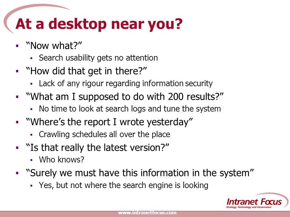 At a desktop near you.