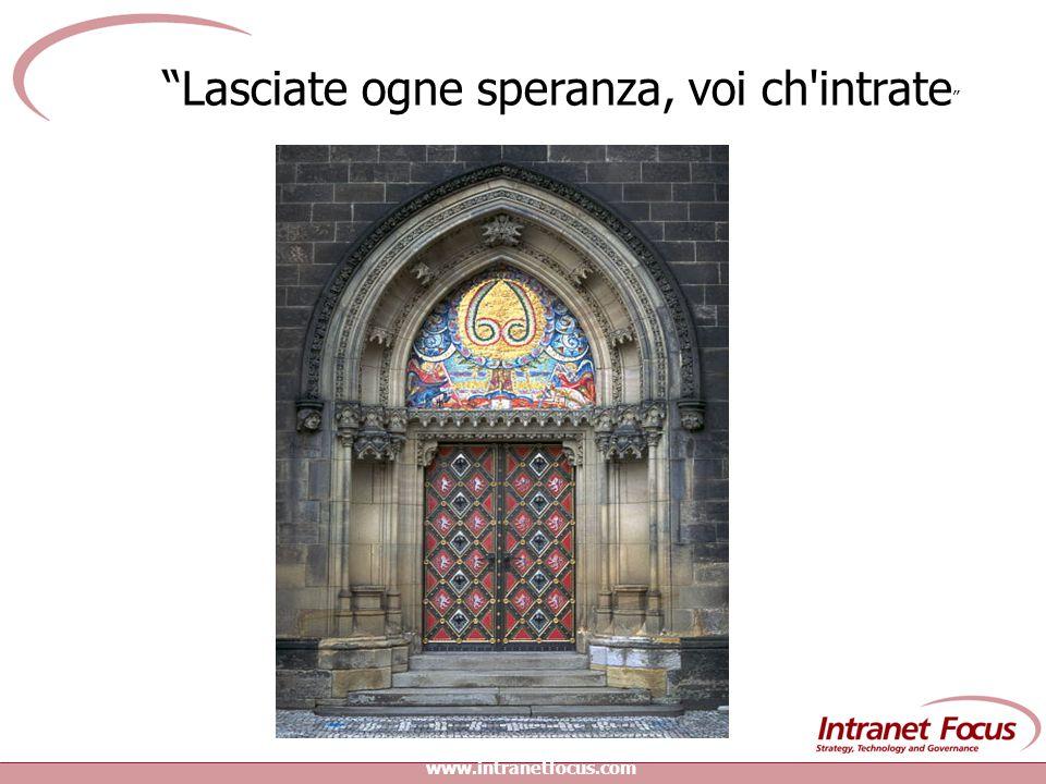 www.intranetfocus.com Lasciate ogne speranza, voi ch intrate