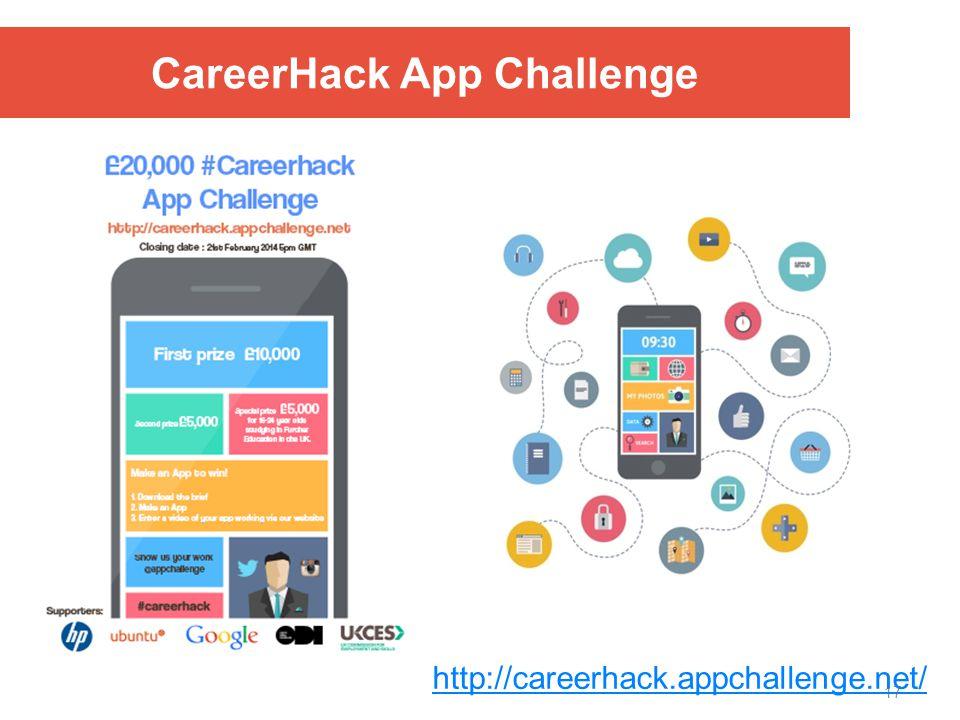 17 CareerHack App Challenge http://careerhack.appchallenge.net/