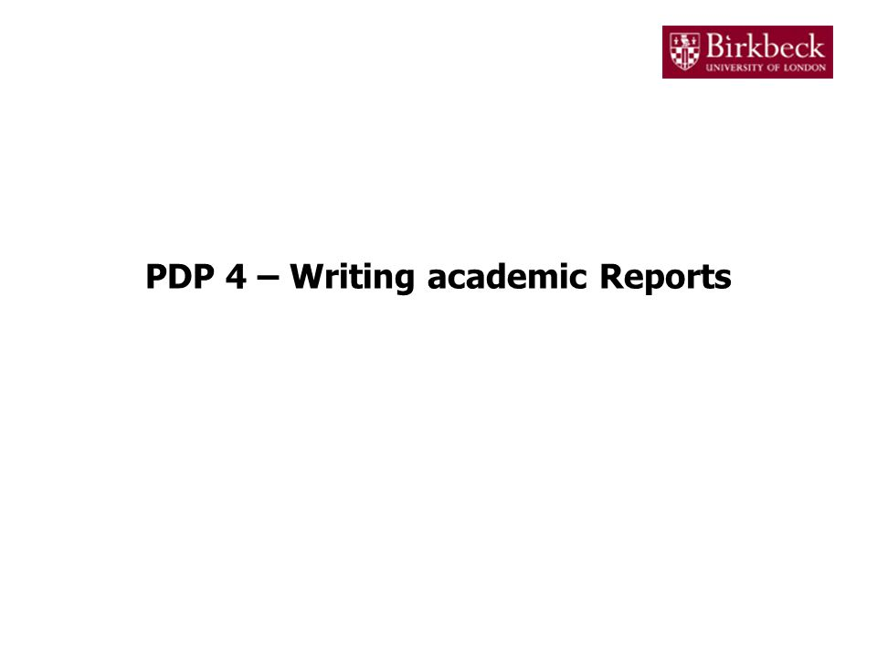 Academic assignments In higher education, assignments are submitted in several formats –Essay –Presentation –Dissertation –Project –Portfolio –Report In IT related subjects, the most commonly used format is the report