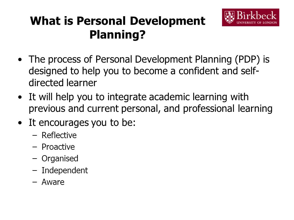 What is Personal Development Planning.