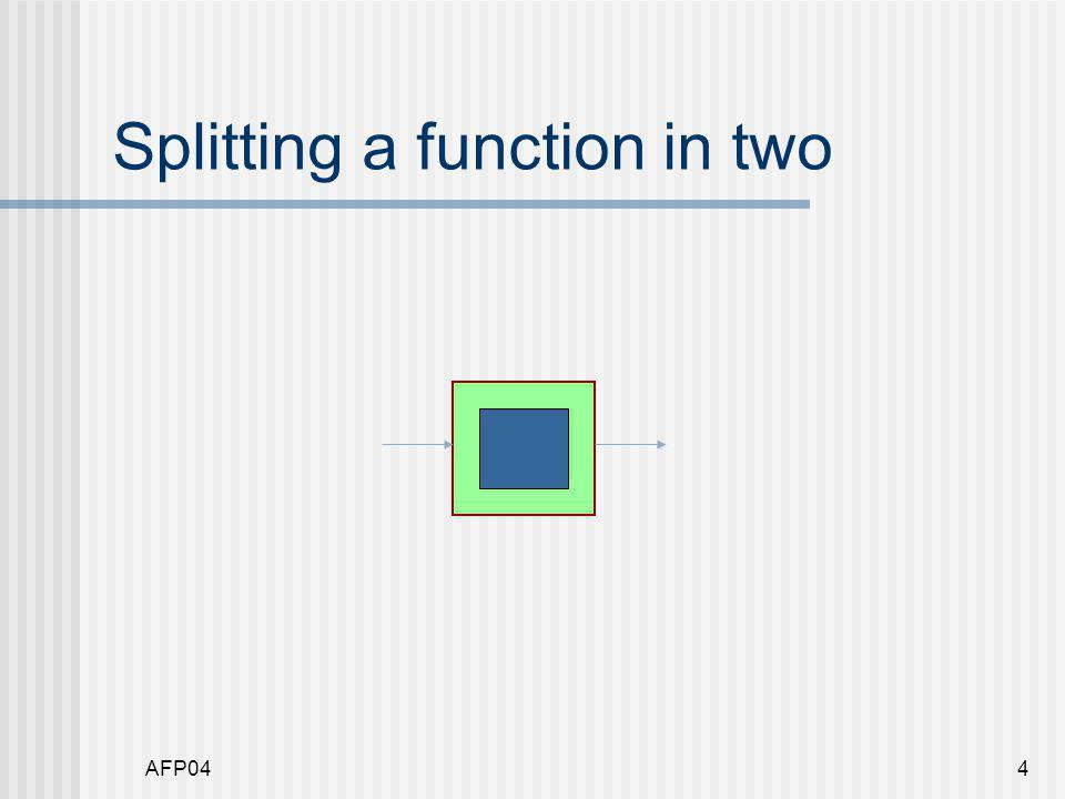 AFP044 Splitting a function in two