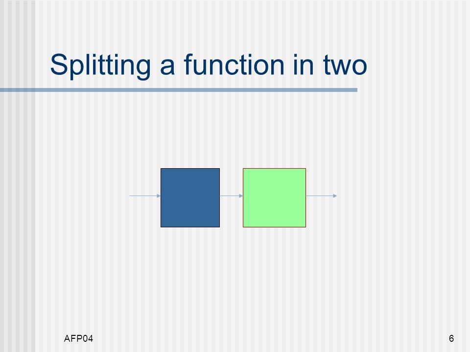 AFP046 Splitting a function in two