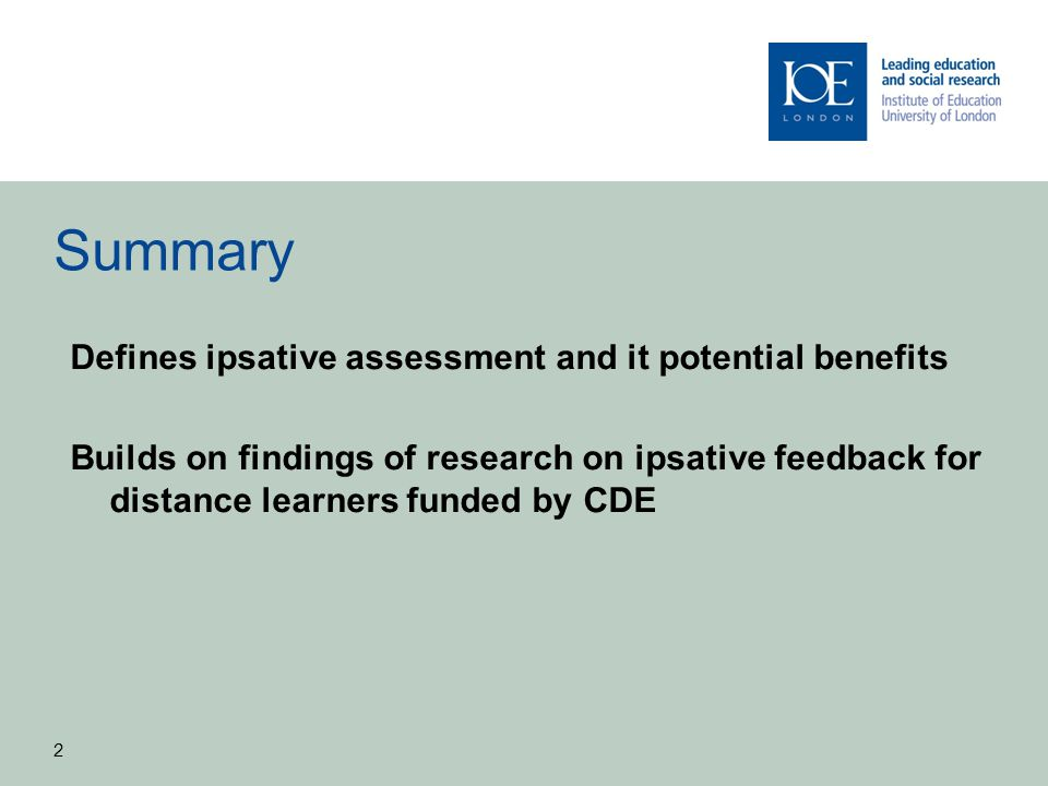 Ipsative assessment as an alternative to criteria-referenced assessment 3