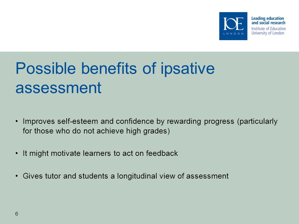 MA in Applied Educational Leadership and Management 1.Phase 1 of study in 2009-2010 showed that ipsative feedback was rare 2.However, both students and tutors felt that ipsative feedback would be beneficial 3.Ipsative grades were perceived to be problematic and so not developed for the next phase of the study-focus on ipsative feedback.