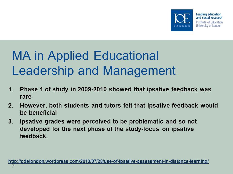 Ipsative cumulative scheme for 3 sequential assessments 8
