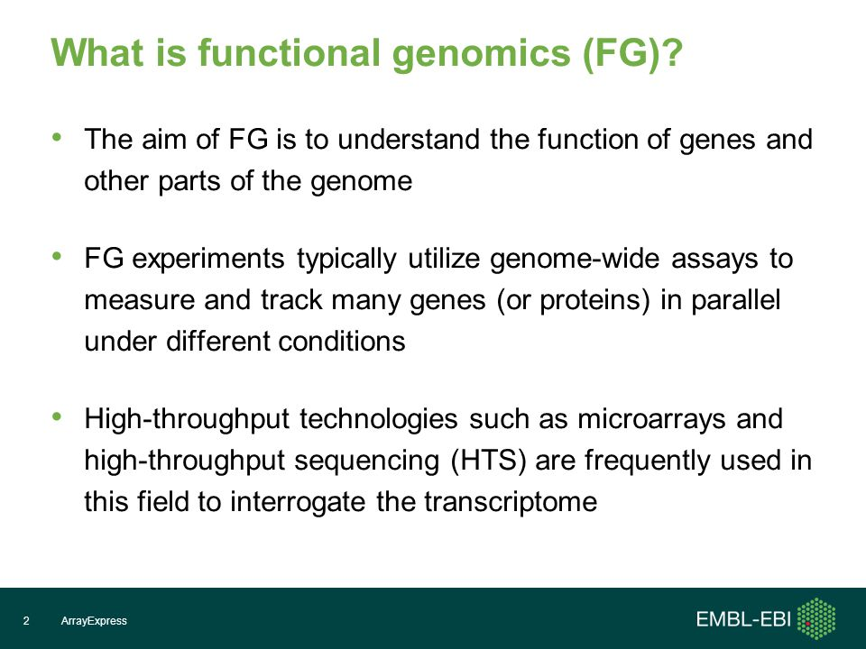 What biological questions is FG addressing.When and where are genes expressed.
