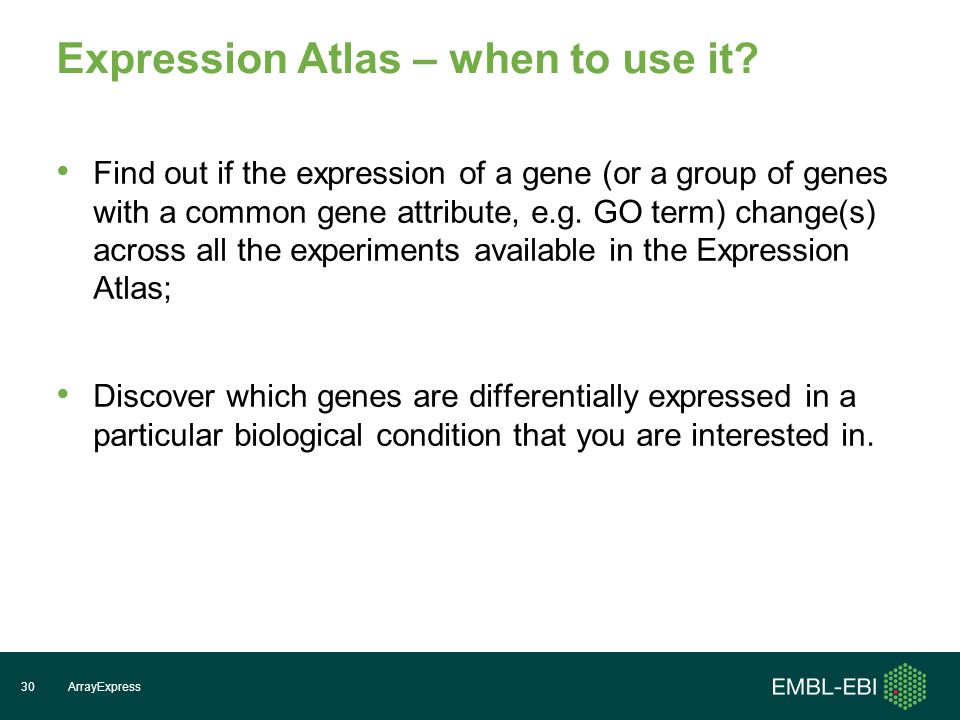 Expression Atlas – when to use it.