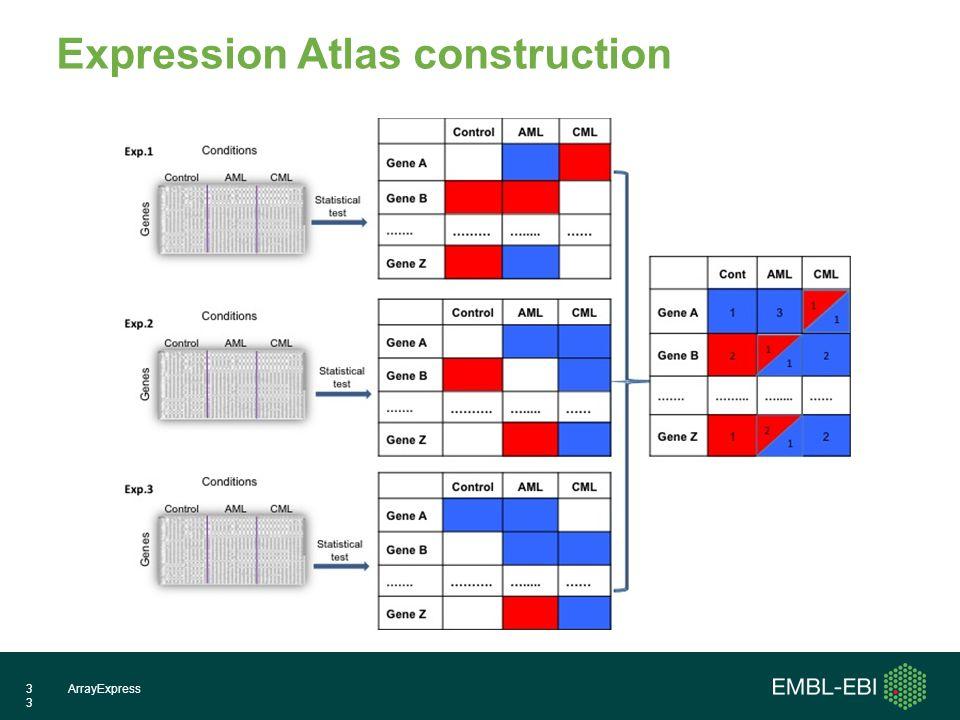 ArrayExpress33 Expression Atlas construction