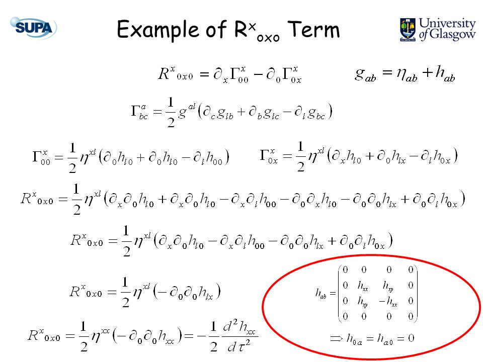 Example of R x oxo Term
