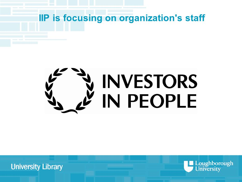 IIP is focusing on organization s staff