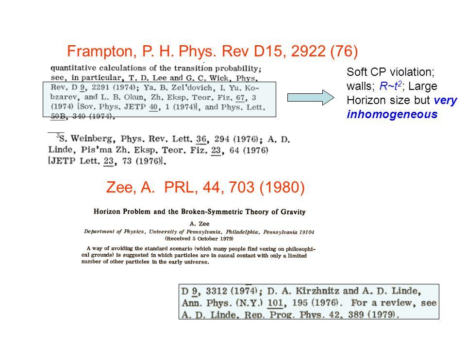 Zee, A. PRL, 44, 703 (1980) Frampton, P. H. Phys.