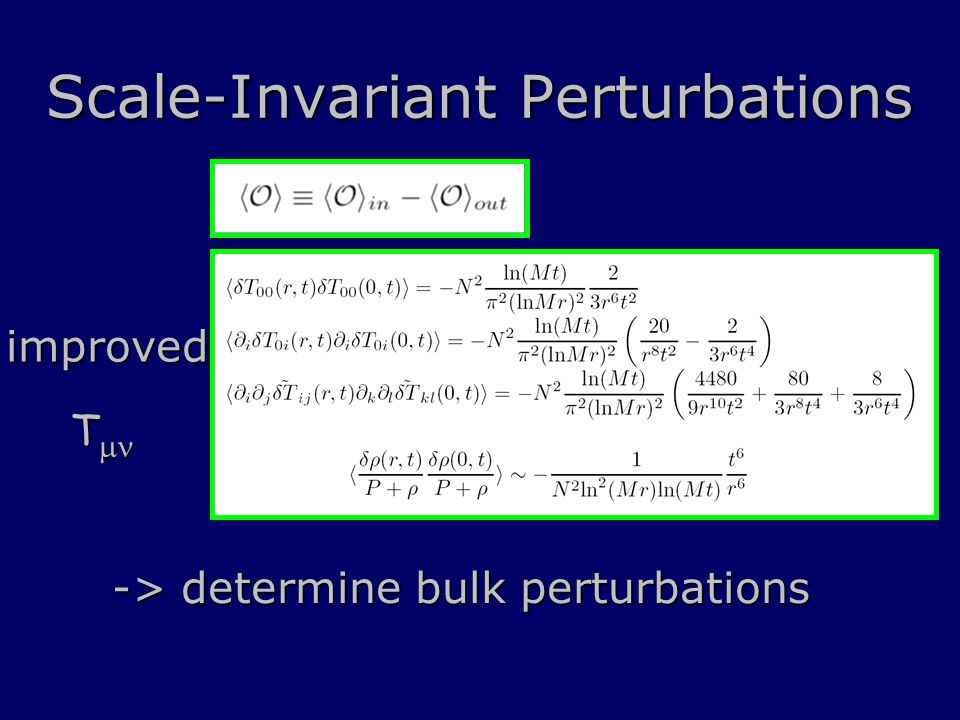 Scale-Invariant Perturbations improved T  T  -> determine bulk perturbations