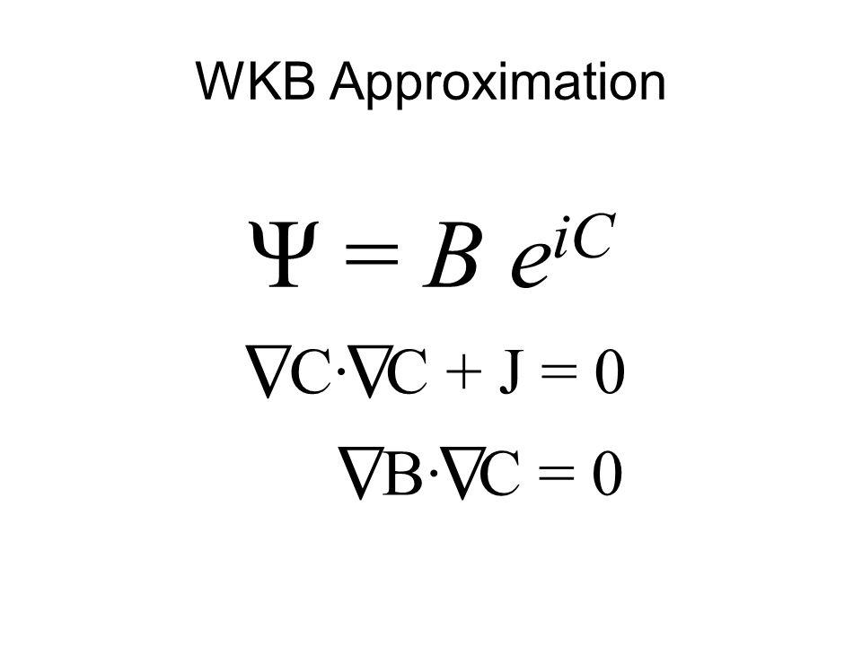 WKB Approximation Ψ = B e iC Δ C·C· Δ C + J = 0 Δ B·B· Δ C = 0