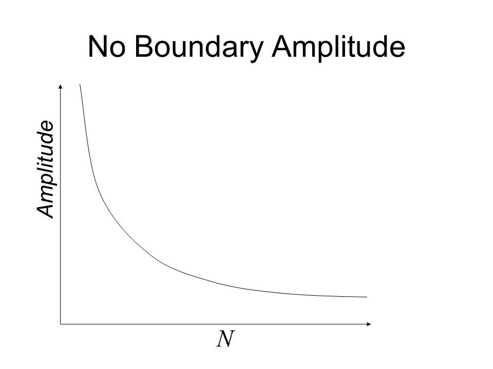 No Boundary Amplitude N Amplitude Amplitude = e 1/m 2 N
