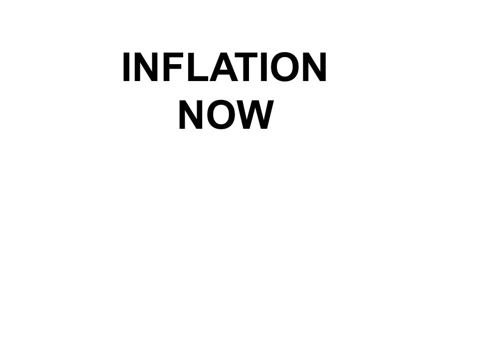 INFLATION NOW