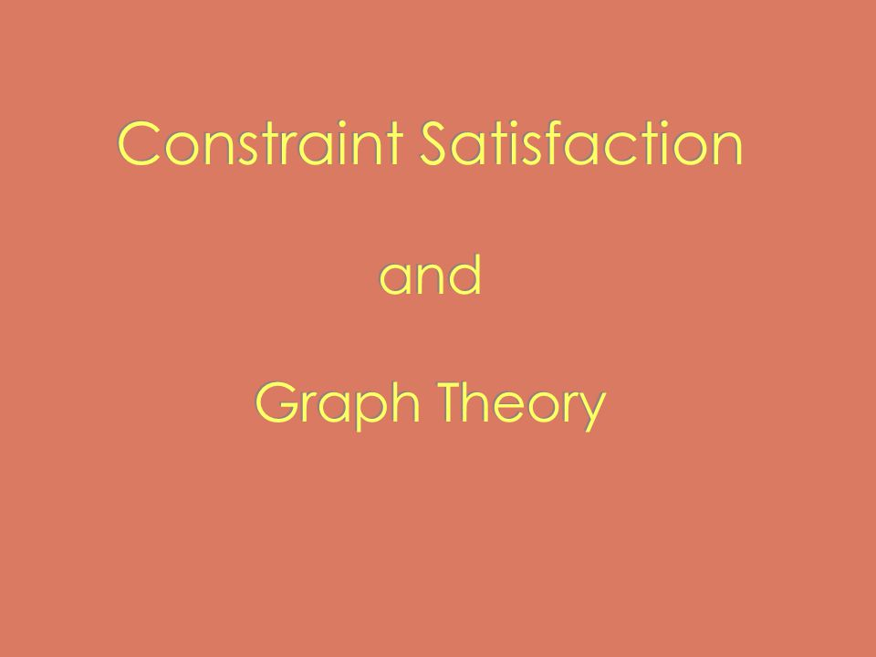 Constraint Satisfaction and Graph Theory