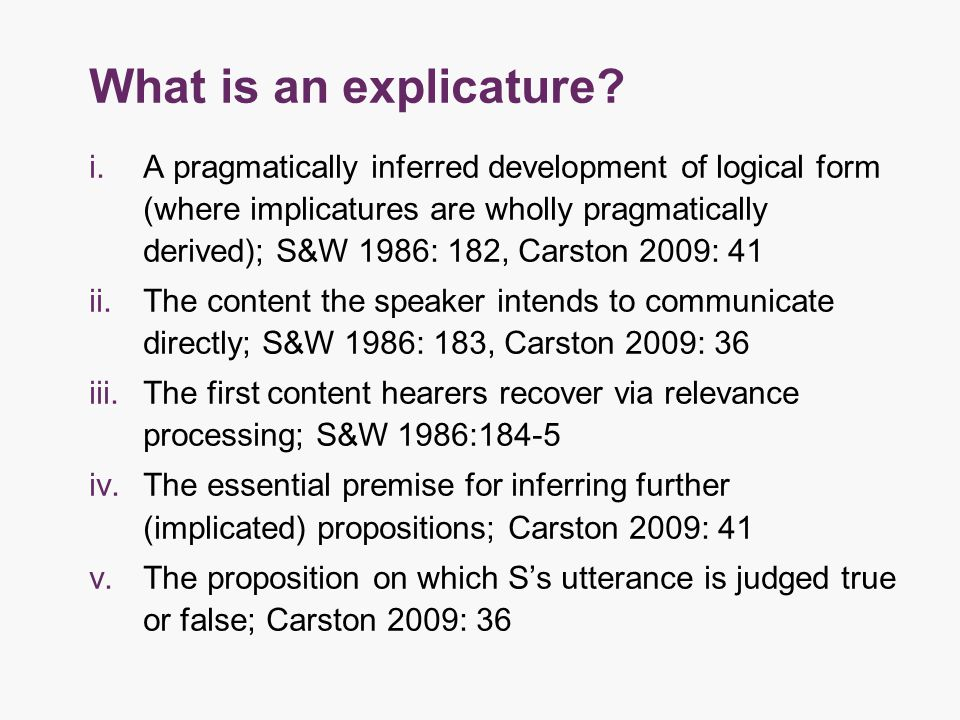 What is an explicature.