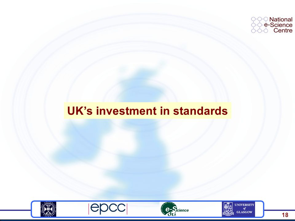 18 UK's investment in standards
