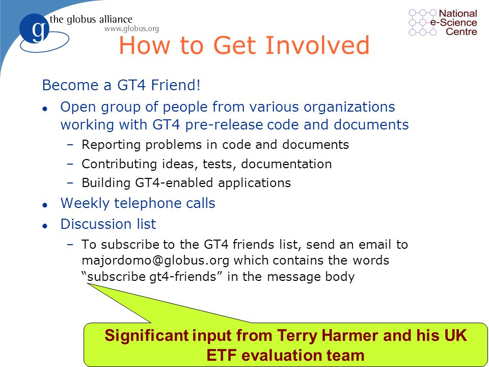 27 How to Get Involved Become a GT4 Friend.