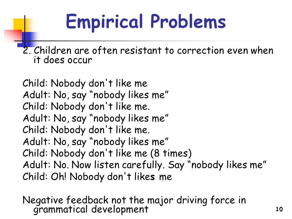 10 Empirical Problems 2.