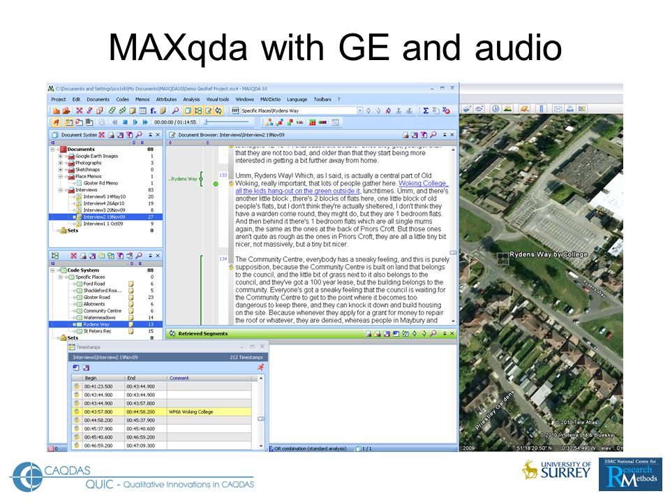 MAXqda with GE and audio