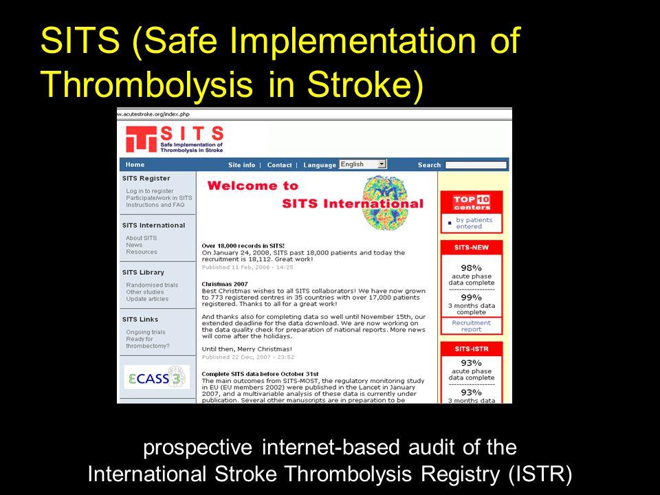 SITS (Safe Implementation of Thrombolysis in Stroke) prospective internet-based audit of the International Stroke Thrombolysis Registry (ISTR)