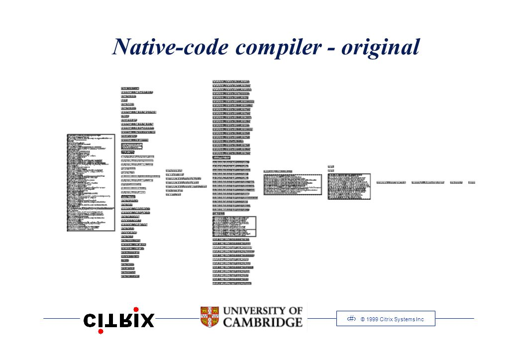 16 © 1999 Citrix Systems Inc Native-code compiler - original