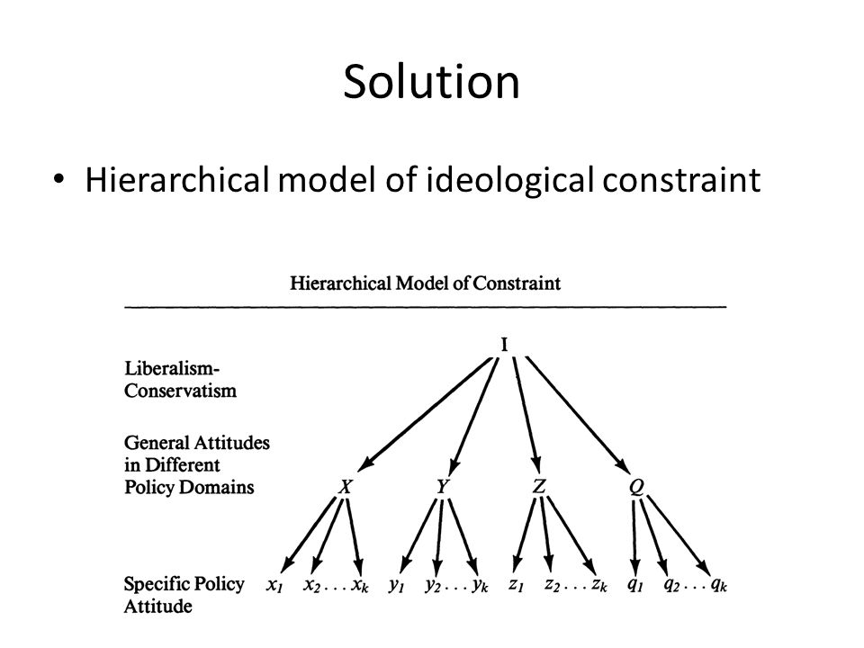 Solution Hierarchical model of ideological constraint