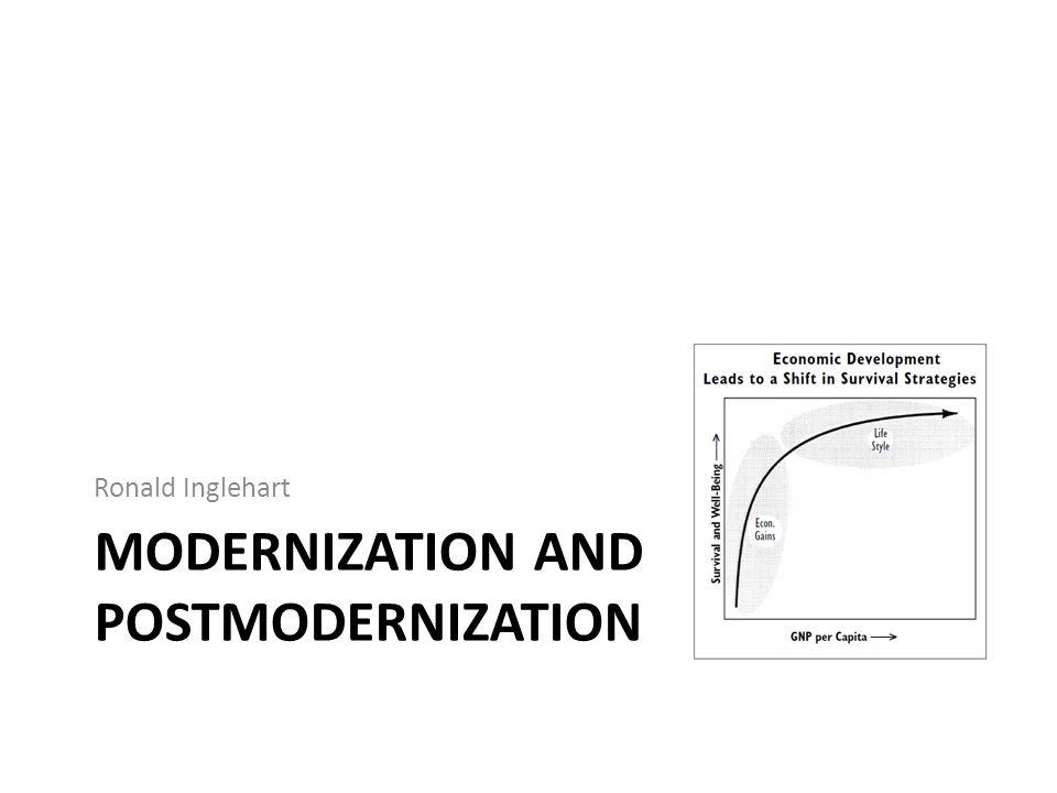 MODERNIZATION AND POSTMODERNIZATION Ronald Inglehart