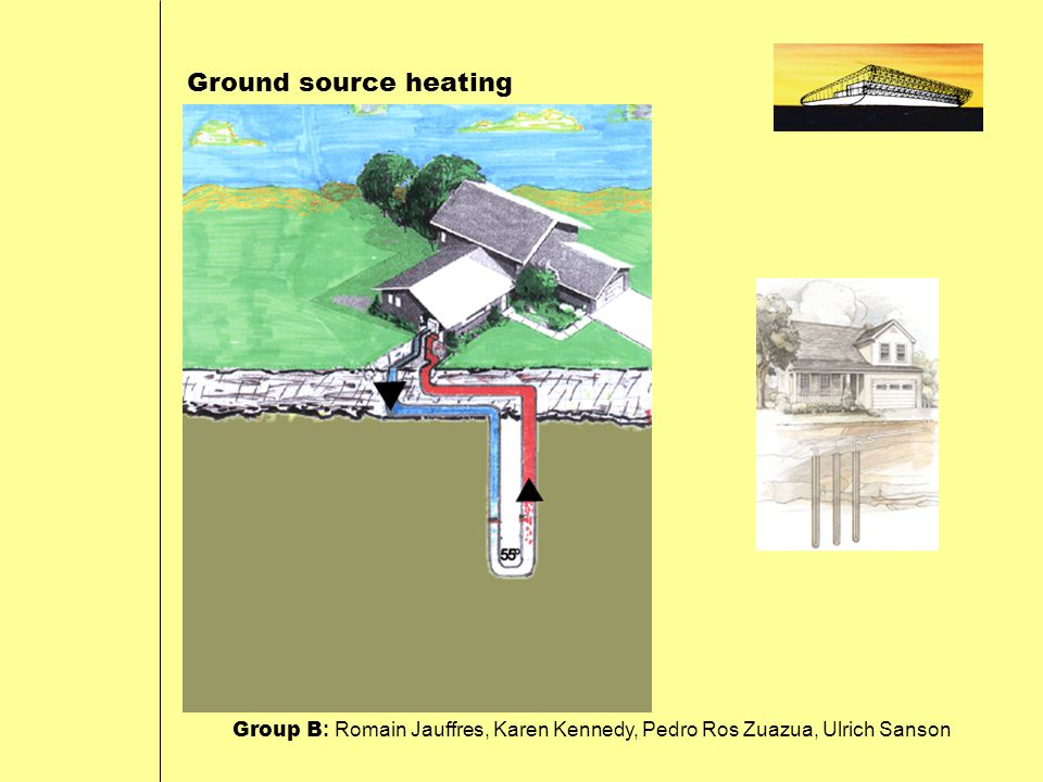 Ground source heating Group B : Romain Jauffres, Karen Kennedy, Pedro Ros Zuazua, Ulrich Sanson