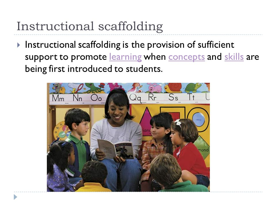 Instructional scaffolding  Instructional scaffolding is the provision of sufficient support to promote learning when concepts and skills are being fi