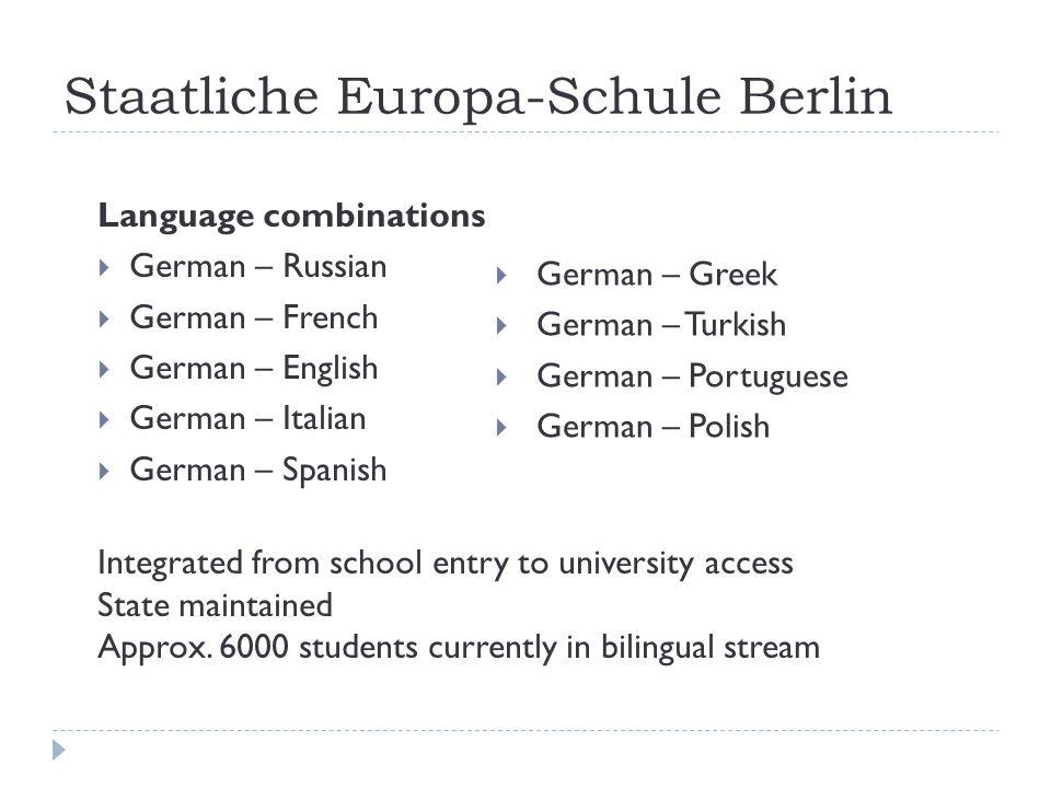 Berlin – SESB locations 17 Primary 13 Secondary + Bilingual Kitas