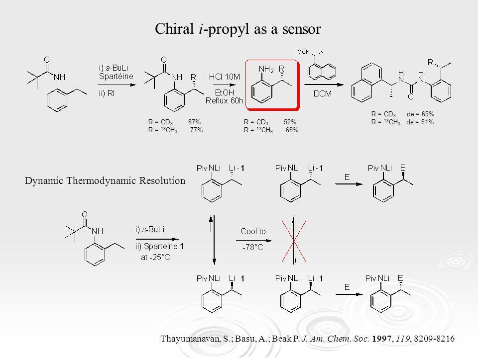 Chiral i-propyl as a sensor Thayumanavan, S.; Basu, A.; Beak P.