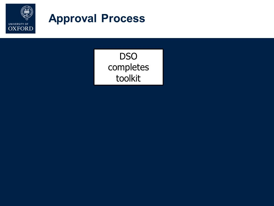 DSO completes toolkit Approval Process