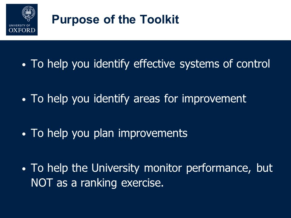 DSO completes toolkit Head of Department reviews Submitted to Safety Office Back to DSO if changes required Approval Process