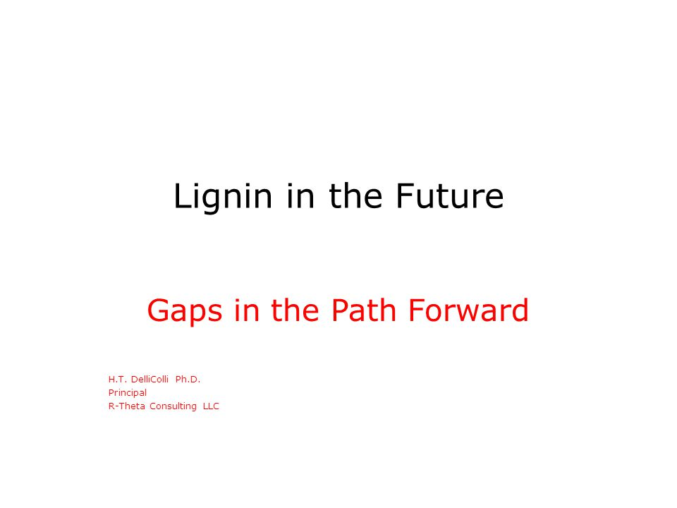 Objective The development of a commercially viable technology based on unsulfonated lignin has, to date, been unsuccessful.