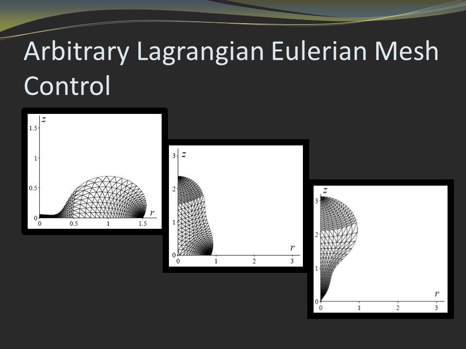 Arbitrary Lagrangian Eulerian Mesh Control