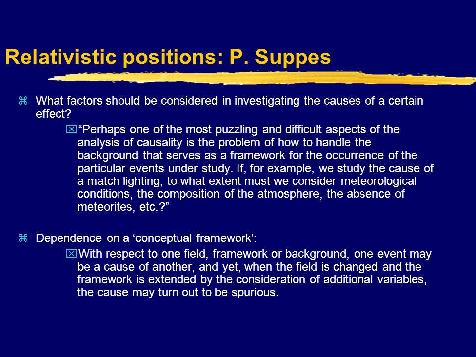 Relativistic positions: P.