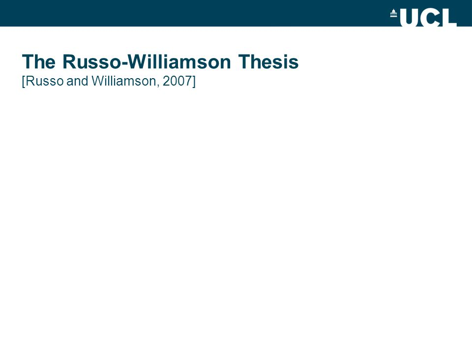 The Russo-Williamson Thesis [Russo and Williamson, 2007]