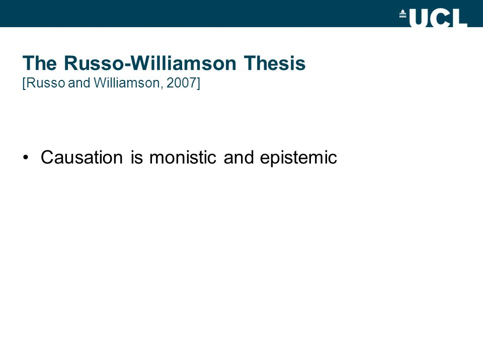 Causation is monistic and epistemic