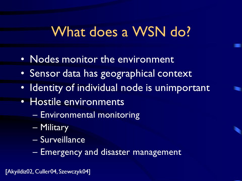 What does a WSN do.