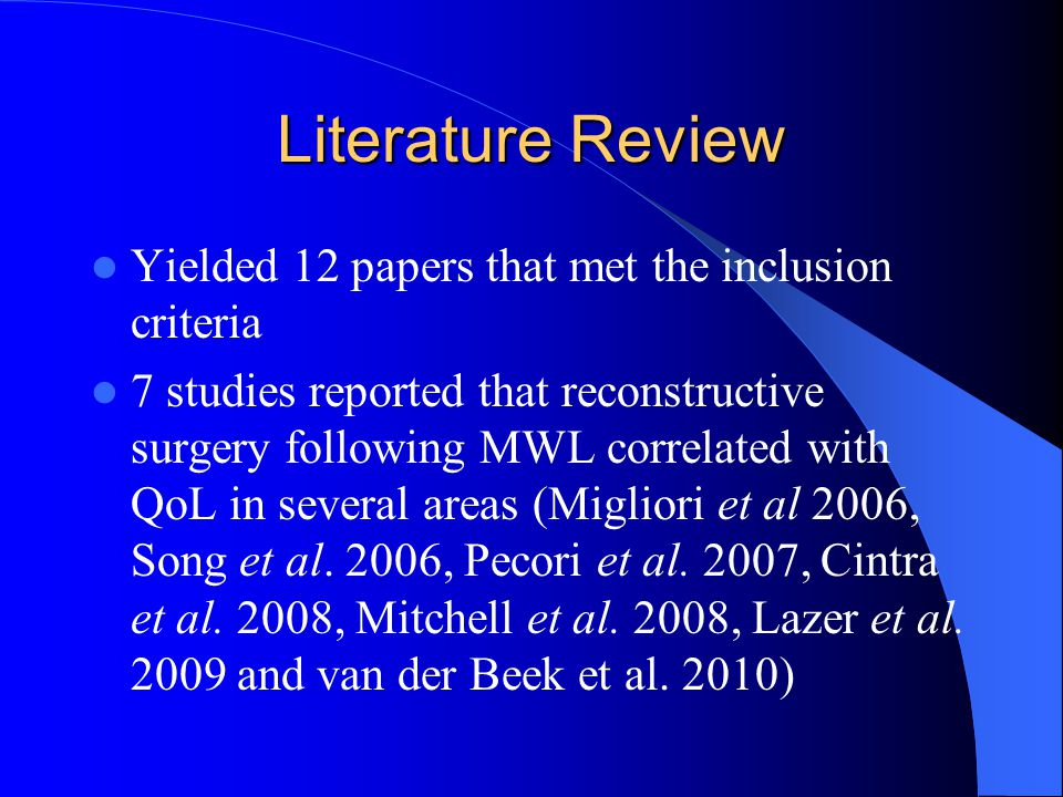 Results 7 of the studies utilised a retrospective approach.