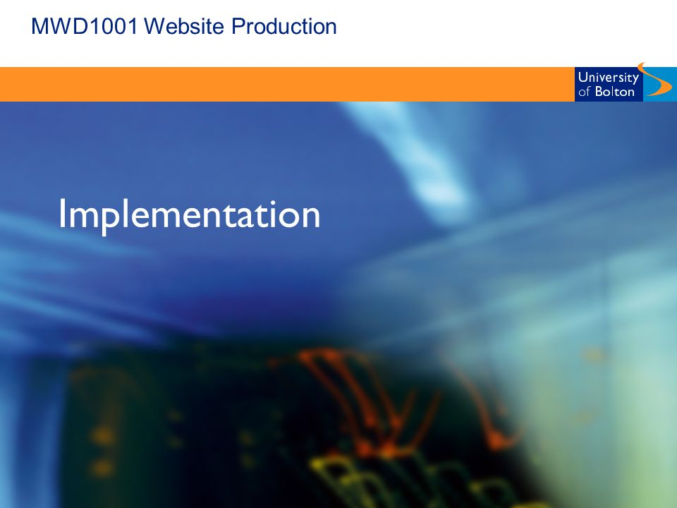 MWD1001 Website Production Implementation